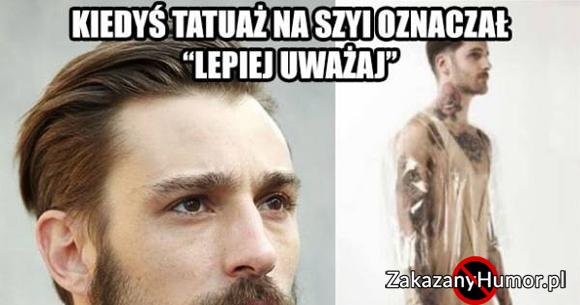 Tatuaż Na Szyi D Zakazany Humorpl