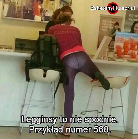 Legginsy to nie spodnie
