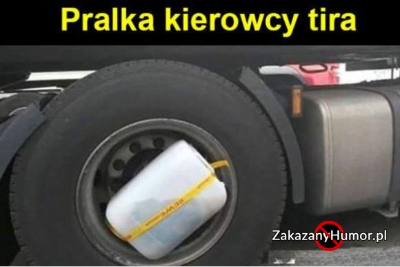 Pralka kierowcy tira
