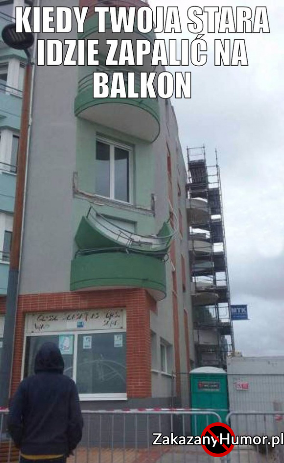 Balkon nie wytrzymał