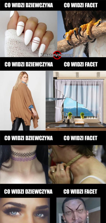 Co widzą kobiety, a co faceci