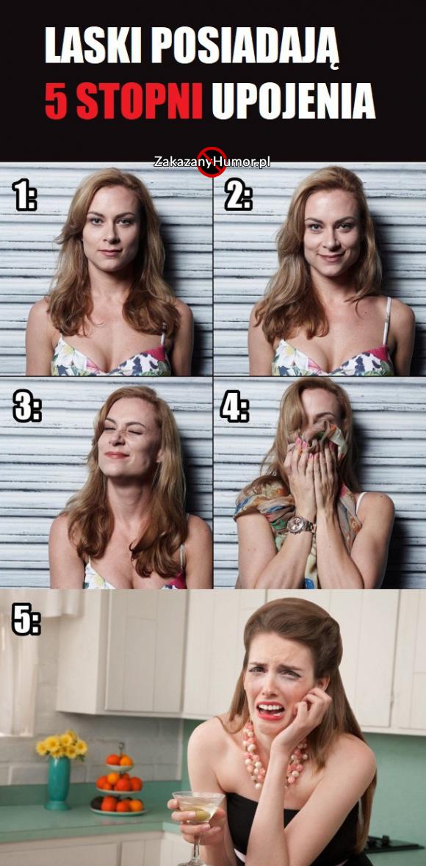 5 stopni upojenia