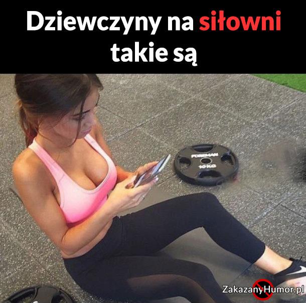 Zawsze znajdzie się taka laska na siłowni