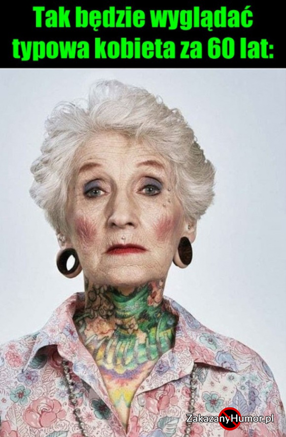 Typowa kobieta za 60 lat