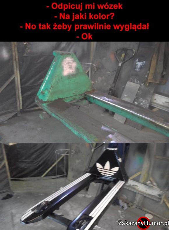 Prawilny wózek